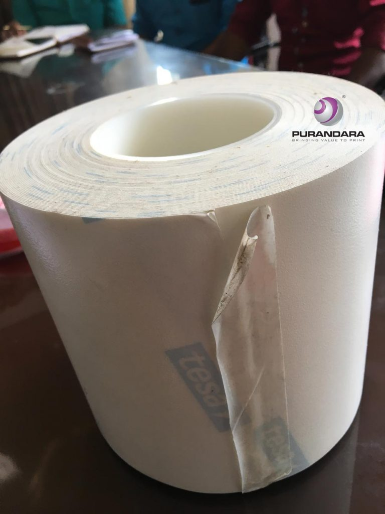 Flexo Plate Tape 25mtr roll to fix flexo plates onto the machine cylinder by tesa